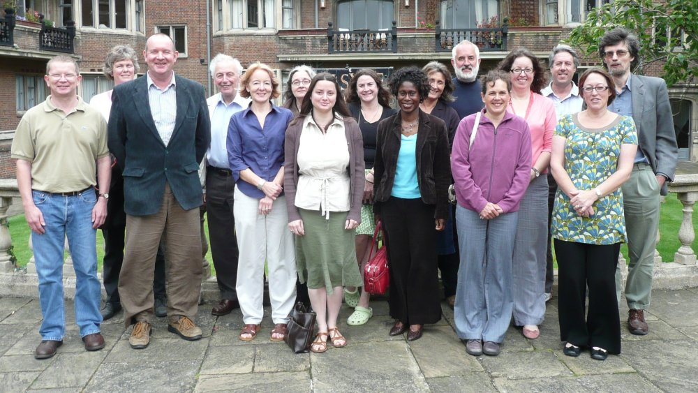 Group picture of the staff of the CCRG outside Belsyre Court, Aug 2008